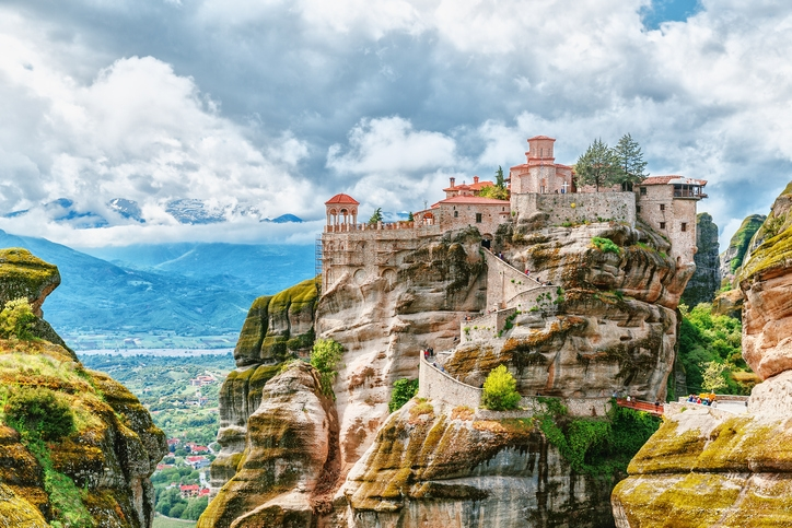 Meteora monastery Greece. UNESCO heritage list stock photo